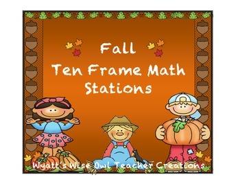 Fall Ten Frame Math Stations