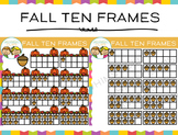 Fall Ten Frames Clip Art