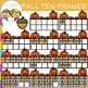 Fall Ten Frames Clip Art