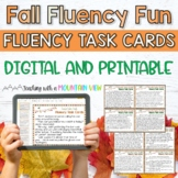Fall Thanksgiving Fluency Task Cards