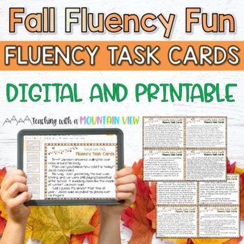 Fall Thanksgiving Fluency Task Cards