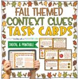 Fall & Thanksgiving Themed Context Clues Task Cards (Grade