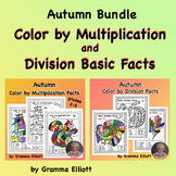 Color by NuMultiplication and Division Facts - Fall Theme