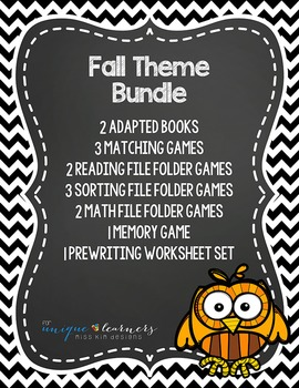 Fall Theme Bundle: 14 Fall Themed Products for Children wi