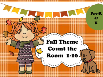 Fall Theme Count the Room 1-10