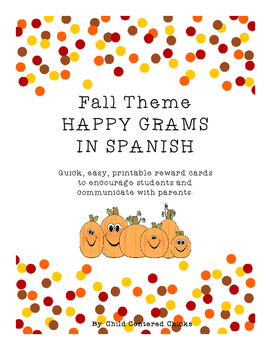 Fall Theme HAPPY GRAMS IN SPANISH