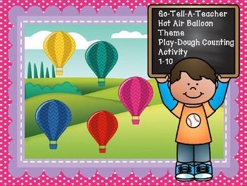 Fall Theme Hot Air Balloon Playdough Counting 1-10
