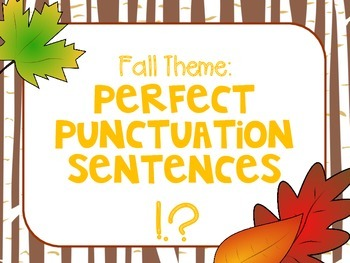 Fall Theme: Perfect Punctuation