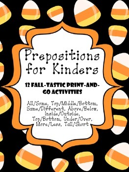 Fall Theme Preposition/Position Words