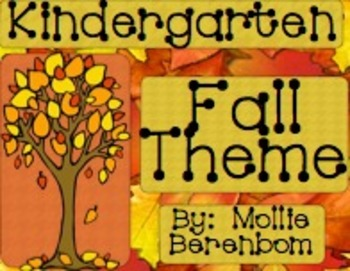 Fall Theme Unit (Kindergarten)