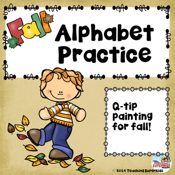 Fall Alphabet Q-Tip Painting