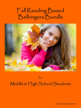 Fall Themed Bellringers for Middle School & High School St