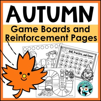 Speech Therapy: Fall Reinforcement Pages