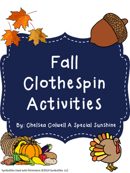 Fall Themed Clothespin Activities