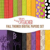 Fall-Themed Digital Papers Set
