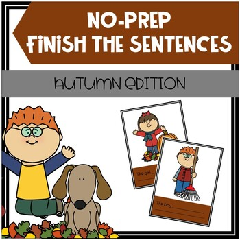 Open-Ended, No Print, Fall-Themed Finish The Sentences Activity