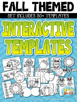 Fall Themed Flippable Interactive Templates Set — Includes