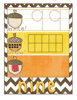 Fall-Themed Math Center - Write It, Draw It, Make It! - Nu