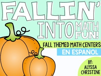 2nd Grade Fall Math Centers in Spanish