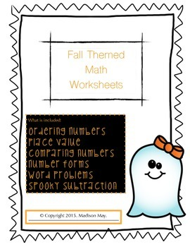 Fall Themed Math Worksheets