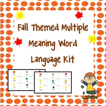 Fall Themed Multiple Meaning Word Language Kit