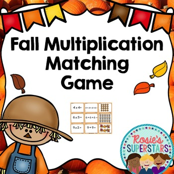 Fall Themed Multiplication Matching Game
