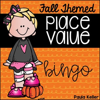 Fall Themed Place Value Bingo Matching Word Form to 3 Digi