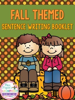 Fall Themed Sentence Writing Booklet FREEBIE