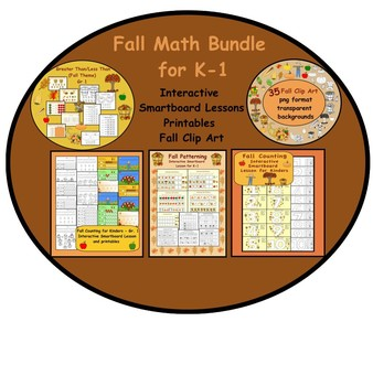 Fall Themed Smartboard Math Activities for K-1