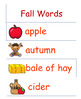 Fall Themed Word Wall Words