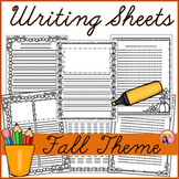 Fall Themed Writing Sheets