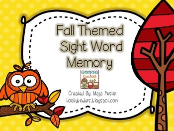 Fall Themed Sight Word Memory