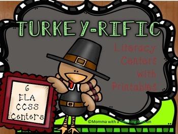 Fall Turkey Literacy Centers CCSS