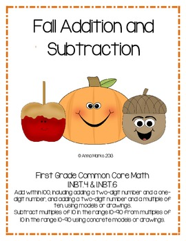 Fall Two Digit Addition and Subtraction Common Core 1.NBT.