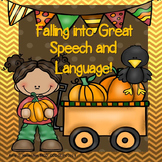 Fall Speech Therapy Original Story Comprehension Articulat