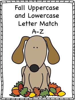 Fall Uppercase and Lowercase Letter Match A-Z