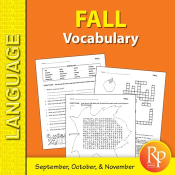 Fall: Vocabulary-Builder