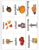 Fall Vocabulary Cards - Great for ESL/ENL