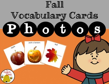 Fall Vocabulary Cards:  PHOTO