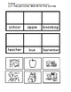 Fall Vocabulary Free Sample --  Emergent Readers, Skills W