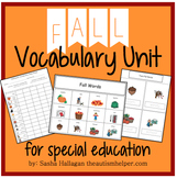 Fall Vocabulary Unit {for Special Education}