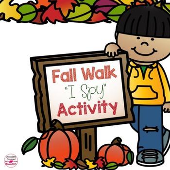 "Fall Walk ""I Spy"" Scavenger Hunt"