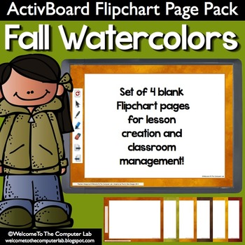 Fall Watercolor ActivBoard Flipchart Page Pack