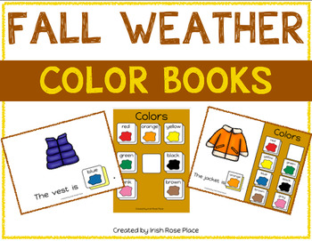 Fall Weather Color Books (Adapted Books)
