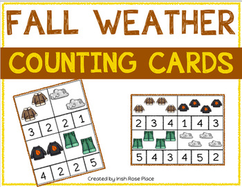 Fall Weather Counting Cards