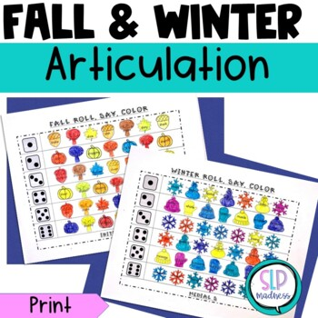 Fall Winter Articulation Roll Say Color Bundle Pack - Spee