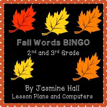 Fall Word Bingo