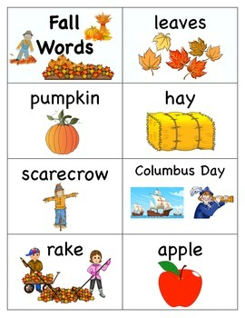 Fall Word Cards