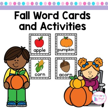 Fall Word Cards and Activities