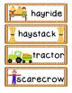 Fall Word Chart